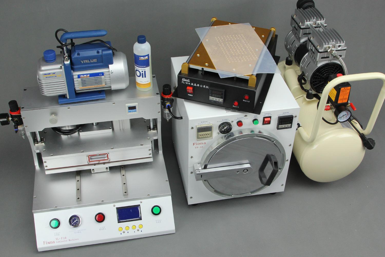 Mẫu máy ép kính Fiona VL-F16 SMC cân bằng áp xuất.